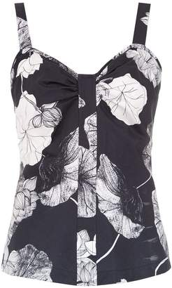 Sissa ruched Floral Lotus blouse