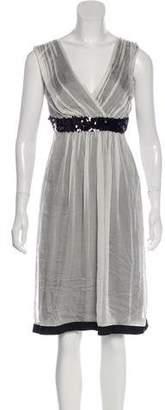 Philosophy di Alberta Ferretti Sequinned Silk Dress