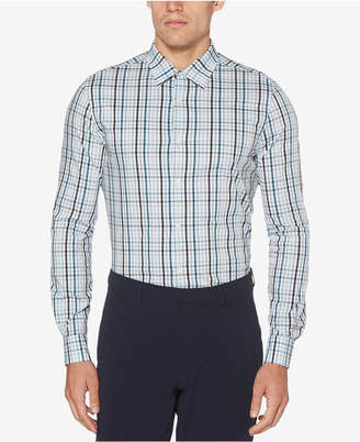 Perry Ellis Men's Yarn-Dyed Plaid Performance Shirt