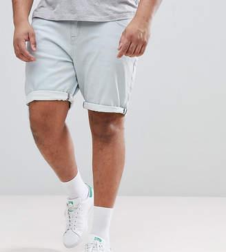 Asos DESIGN PLUS Denim Shorts In Slim Light Wash