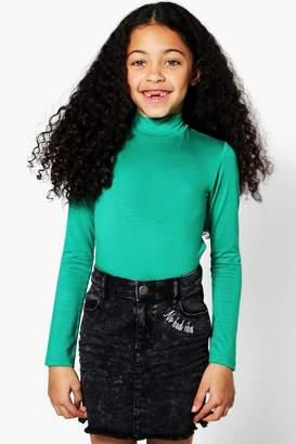 boohoo Girls Polo Neck Bodysuit