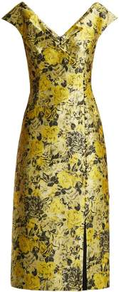 Erdem Joyti floral jacquard midi dress
