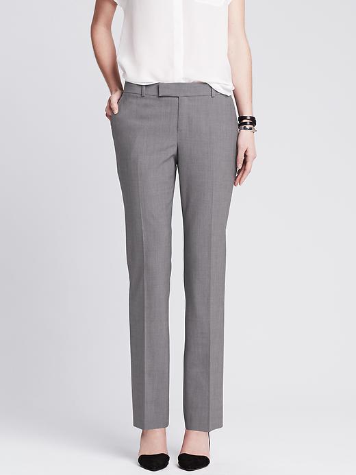 Banana Republic Martin-Fit Gray Lightweight Wool Straight Leg