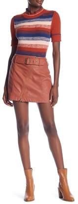 Free People Feelin' Fresh Vegan Leather Mini Skirt