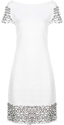 D-Exterior D.Exterior frill trim knitted dress