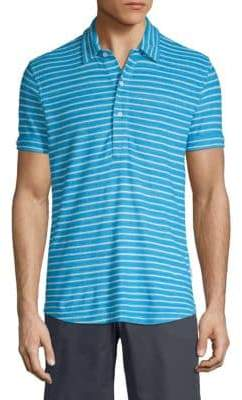 Orlebar Brown Striped Cotton Polo