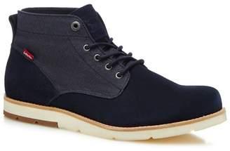 Levi's LEVIS Navy Suede 'Jax' Chukka Boots