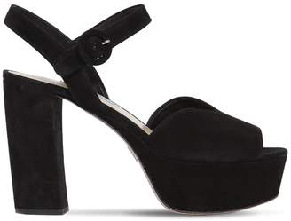 Prada 110mm Suede Platform Sandals