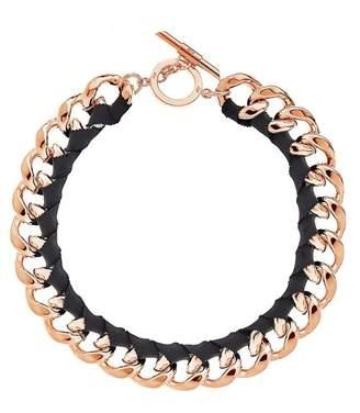 Amanda Wakeley Chunky Rose Gold Ribbon Necklace