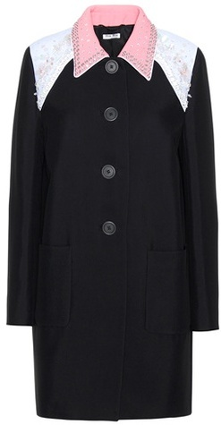 Miu MiuMiu Miu Embellished Coat