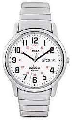 Timex Men's Easy Reader Stainless Steel Watch &