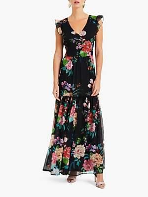 Phase Eight Isadora Floral Gypsy Dress, Black/Multi