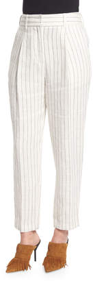 3.1 Phillip Lim Pinstripe Linen Carrot Pants, Cloud