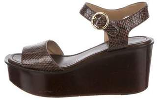 Michael Kors Snakeskin Wedge Sandals