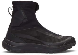 11 By Boris Bidjan Saberi Black Salomon Edition Zip-Up High-Top Sneakers