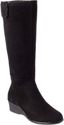 Taryn Rose Aiden Waterproof Suede Tall Boot