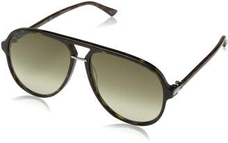 Gucci Men's Anti-reflective GG0015S-002-58 Aviator Sunglasses