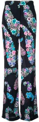Blugirl flared floral print trousers