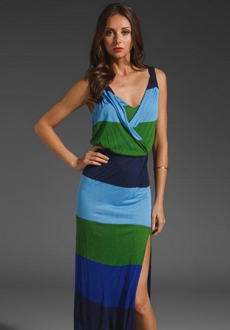 BCBGMAXAZRIA Striped Maxi Dress