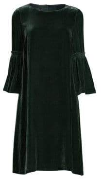 Lafayette 148 New York Roslin Velvet Bell Sleeve Shift Dress