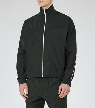 Champs - Zip Funnel Neck Jacket in Green, Mens