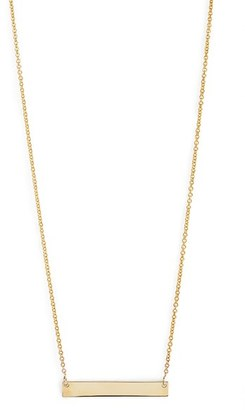 Women's Bony Levy 14K Gold Bar Pendant Necklace (Nordstrom Exclusive) $450 thestylecure.com