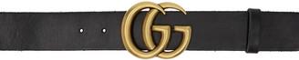 Gucci Black Leather GG Belt $420 thestylecure.com