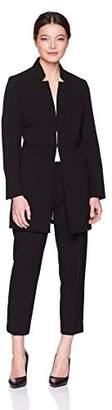 Tahari by Arthur S. Levine Women's Petite Notch Collar Topper Jacket Pant Suit
