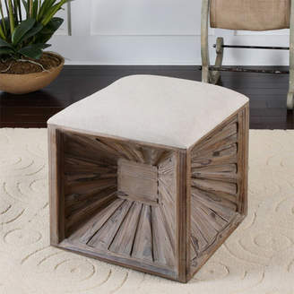 Uttermost Jia Cube Ottoman