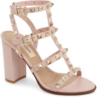 ea4e6e9bbadf Pink Valentino Rockstud Heels - ShopStyle