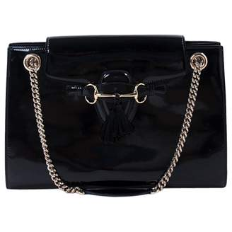 Gucci Emily Black Patent leather Handbag