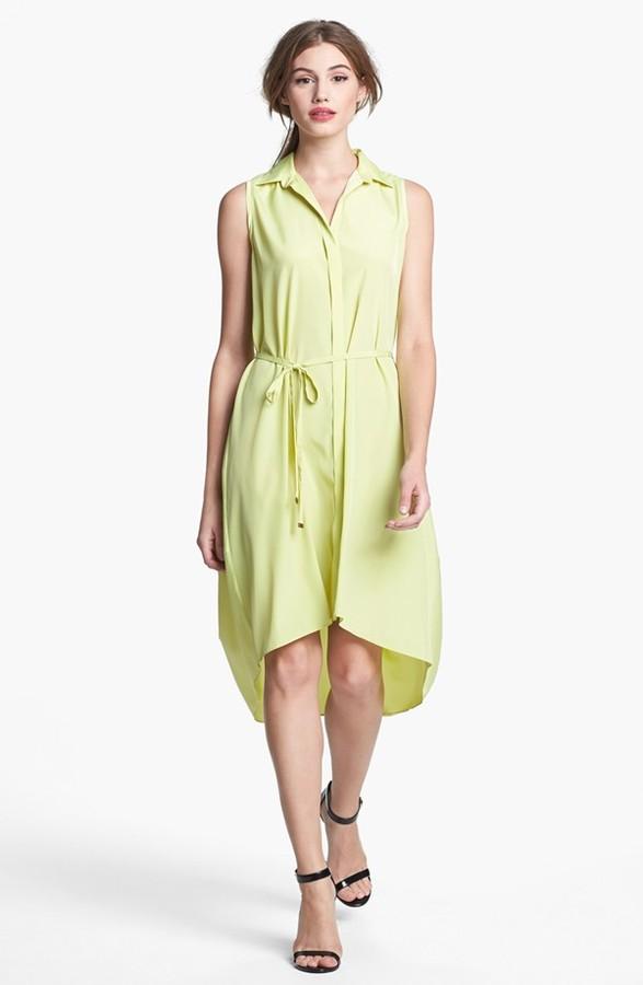 Kenneth Cole New York 'Emilie' High/Low Shirtdress