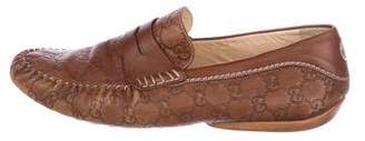 Gucci Guccissima Driving Loafers