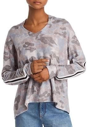 Vintage Havana Striped-Trim Camo Hooded Sweatshirt