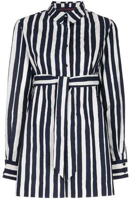Martin Grant striped belted playsuit