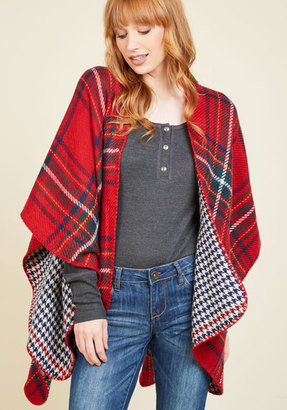 Look by M Cozy Campside Plaid Shawl in Garnet $39.99 thestylecure.com