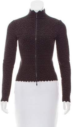 Alaia Knit Jacquard Zip-Up Jacket