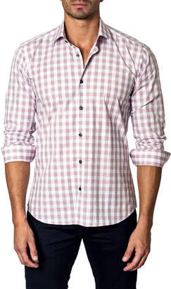 Unsimply Stitched Faded Checkered Sport Shirt