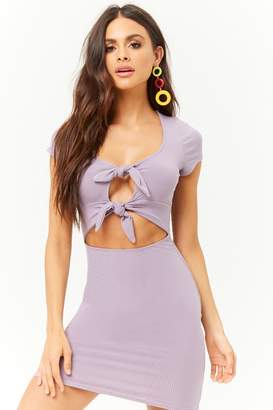 Forever 21 Double Tie-Front Mini Dress