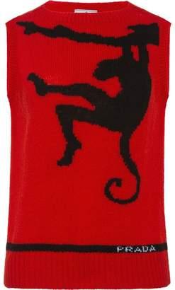 Prada sleeveless shetland wool sweater
