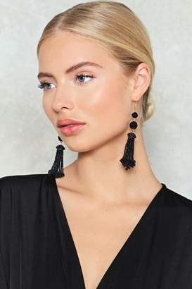 Nasty Gal Drop the Ball Tassel Earrings