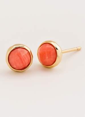 Gorjana Power Gemstone Pink Coral Studs