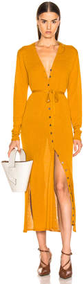 Lemaire V Neck Cardigan Dress in Mustard | FWRD