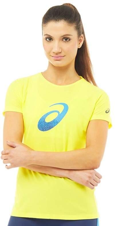 Damen Grafik T-Shirt Gelb