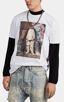 R 13 Men's Biggie-Graphic Cotton T-Shirt - White