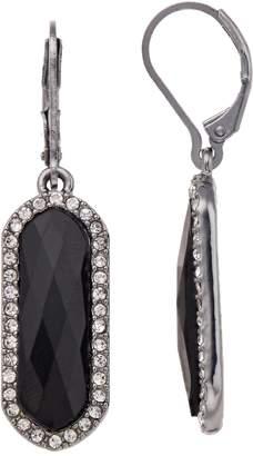 Dana Buchman Black Crystal Drop Earrings
