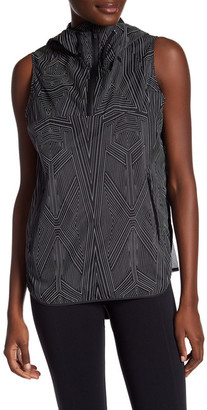 Ivy Park Reflective Linear Print Sleeveless Jacket $190 thestylecure.com