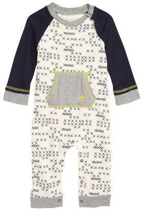 Burt's Bees Baby Cross Stitch Organic Cotton Romper