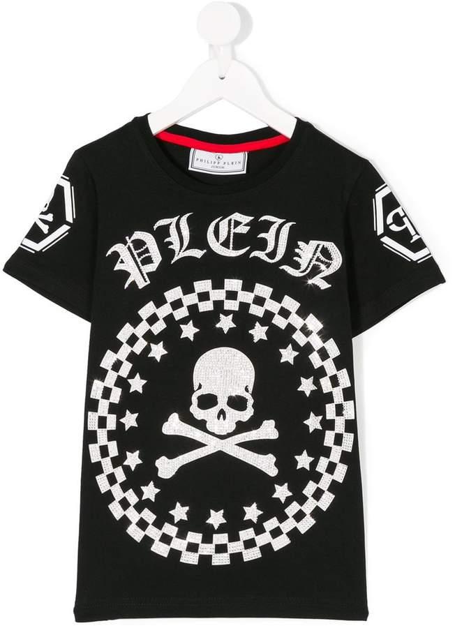 Philipp Plein Junior logo skull T-shirt