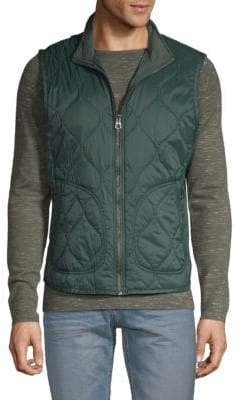 Michael Bastian Stand Collar Quilted Puffer Vest